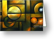 Colorful Photography Painting Greeting Cards - Spheres of Influence Greeting Card by Uma Devi