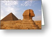 Ancient Tomb Greeting Cards - Sphinx of Giza Greeting Card by Jane Rix