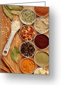 Measuring Greeting Cards - Spices Greeting Card by HD Connelly