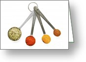 Cinnamon Greeting Cards - Spices in measuring spoons Greeting Card by Elena Elisseeva