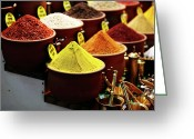 Market Greeting Cards - Spices Greeting Card by John Rizzuto