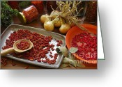 Chili Greeting Cards - Spicy still life Greeting Card by Carlos Caetano
