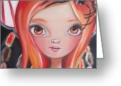 Jaz Greeting Cards - Spider Fairy Greeting Card by Jaz Higgins