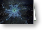 Digital Flower Greeting Cards - Spider Lily Greeting Card by Amanda Moore