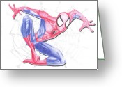 The Hulk Greeting Cards - Spider Man 1 Greeting Card by Toni Jaso
