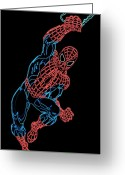 Spider Man Greeting Cards - Spider Man Greeting Card by Dean Caminiti