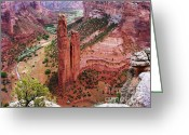 Spider Rock Art Greeting Cards - Spider Rock Greeting Card by Marilyn Smith