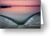 Dam Greeting Cards - Spillway Greeting Card by Evgeni Dinev