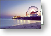 Ferris Wheel Greeting Cards - Spinning Greeting Card by Dj Murdok Photos
