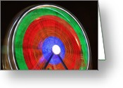 The Lightning Man Greeting Cards - Spinning Wheels Greeting Card by James Bo Insogna