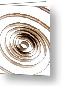 Cut Outs Greeting Cards - Spiral Greeting Card by Bernard Jaubert