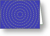 Geometric Digital Art Greeting Cards - Spiral Circles Greeting Card by Michael Tompsett
