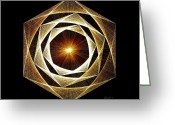 Fractal Greeting Cards - Spiral Scalar Greeting Card by Jason Padgett