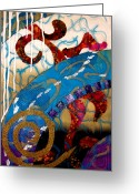 Spiral Staircase Painting Greeting Cards - Spiral Staircase Greeting Card by Jude Ongley-Mowris