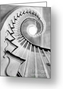 House Tapestries Textiles Greeting Cards - Spiral Staircase Lowndes Grove  Greeting Card by Dustin K Ryan