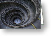 Featured Greeting Cards - Spiral Staircase Greeting Card by Maico Presente