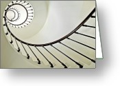 Staircase Greeting Cards - Spiral Greeting Card by Susanne Bund