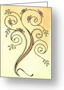 Nora Blansett Painting Greeting Cards - Spiral Tree Greeting Card by Nora Blansett