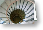 Westminster College Greeting Cards - Spiraling Greeting Card by David Bearden