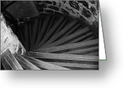Tower Of London Greeting Cards - Spiraling Down Greeting Card by David Waldo