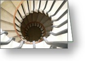Westminster College Greeting Cards - Spirals Greeting Card by David Bearden