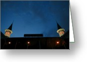 Churchill Downs Greeting Cards - Spires at Night Greeting Card by Lone  Dakota Photography