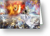 Prophetic Art Greeting Cards - Spirit and truth Greeting Card by Dolores DeVelde