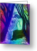 Contemplation Digital Art Greeting Cards - Spirit Guides II Greeting Card by Patricia Motley