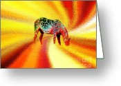 Contemporary Horse Digital Art Greeting Cards - Spirit Horse Greeting Card by Terril Heilman