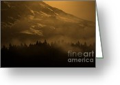 Tacoma Greeting Cards - Spirit of Chief Seattle Greeting Card by C E Dyer
