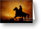 The West Greeting Cards - Spirit of the West Greeting Card by Heather Swan