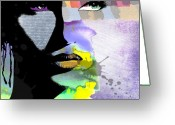 Woman Greeting Cards - Spirit Greeting Card by Ramneek Narang