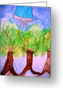 Spirit Rising Greeting Cards - Spirit Walker Greeting Card by Kathryn Bonner