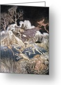 Rackham Greeting Cards - Spirits In Sleepy Hollow Greeting Card by Granger
