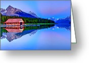 Snow Capped Photo Greeting Cards - Spiritual Lake Greeting Card by Scott Mahon