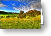 Rocky Mountains Greeting Cards - Spiritual Sky Greeting Card by Scott Mahon