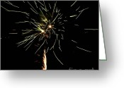 Pyrotechnics Greeting Cards - Spirograph Greeting Card by Agusti Pardo Rossello