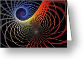 Spirals Greeting Cards - Spirograph Greeting Card by Amanda Moore