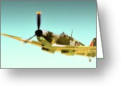 Raf Photo Greeting Cards - Spitfire High Greeting Card by Gus McCrea