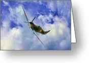 Digital Images Greeting Cards - Spitfire MKII Greeting Card by Garry Staranchuk