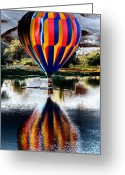Dash Greeting Cards - Splash and Dash with a Hot Air Balloon Greeting Card by David Patterson