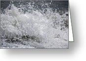 Myrtle Beach South Carolina Greeting Cards - Splash Greeting Card by Teresa Mucha