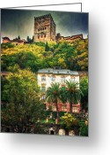 Old Street Greeting Cards - Splendid Alhambra  Greeting Card by Levin Rodriguez