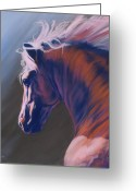 Horses Pastels Greeting Cards - Splendor Greeting Card by Kim McElroy