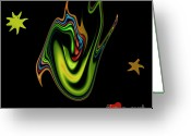 Scream Greeting Cards - Split Tongue 2 Greeting Card by Stefan Kuhn