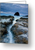 Dusk Greeting Cards - Splitting Stone Greeting Card by Mike  Dawson
