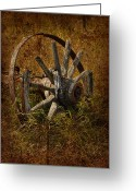 Old Prints Posters Greeting Cards - Spoke Greeting Card by Larysa Luciw