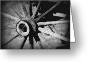 Prairie Sky Art Greeting Cards - Spoked wheel Greeting Card by Perry Webster