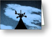 Indicator Greeting Cards - Spooky Silhouette Greeting Card by Al Powell Photography USA