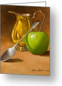 Featured Painting Greeting Cards - Spoon and Creamer  Greeting Card by Joni Dipirro